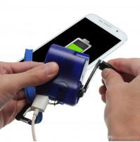 Ручная USB зарядка со встроенной динамо-машиной - для экстренной зарядки телефона в экстремальных условиях