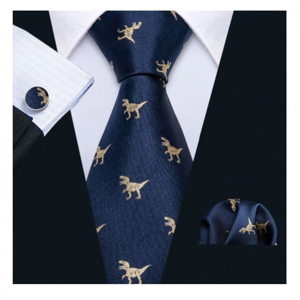 Stylish tie with dinosaurs, a gift to a man, friend, husband, brother