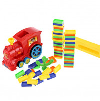 Domino Rally Train Toy Set DIY