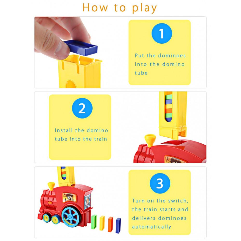 Vilciens Domino – komplekts bērniem no 3 gadiem