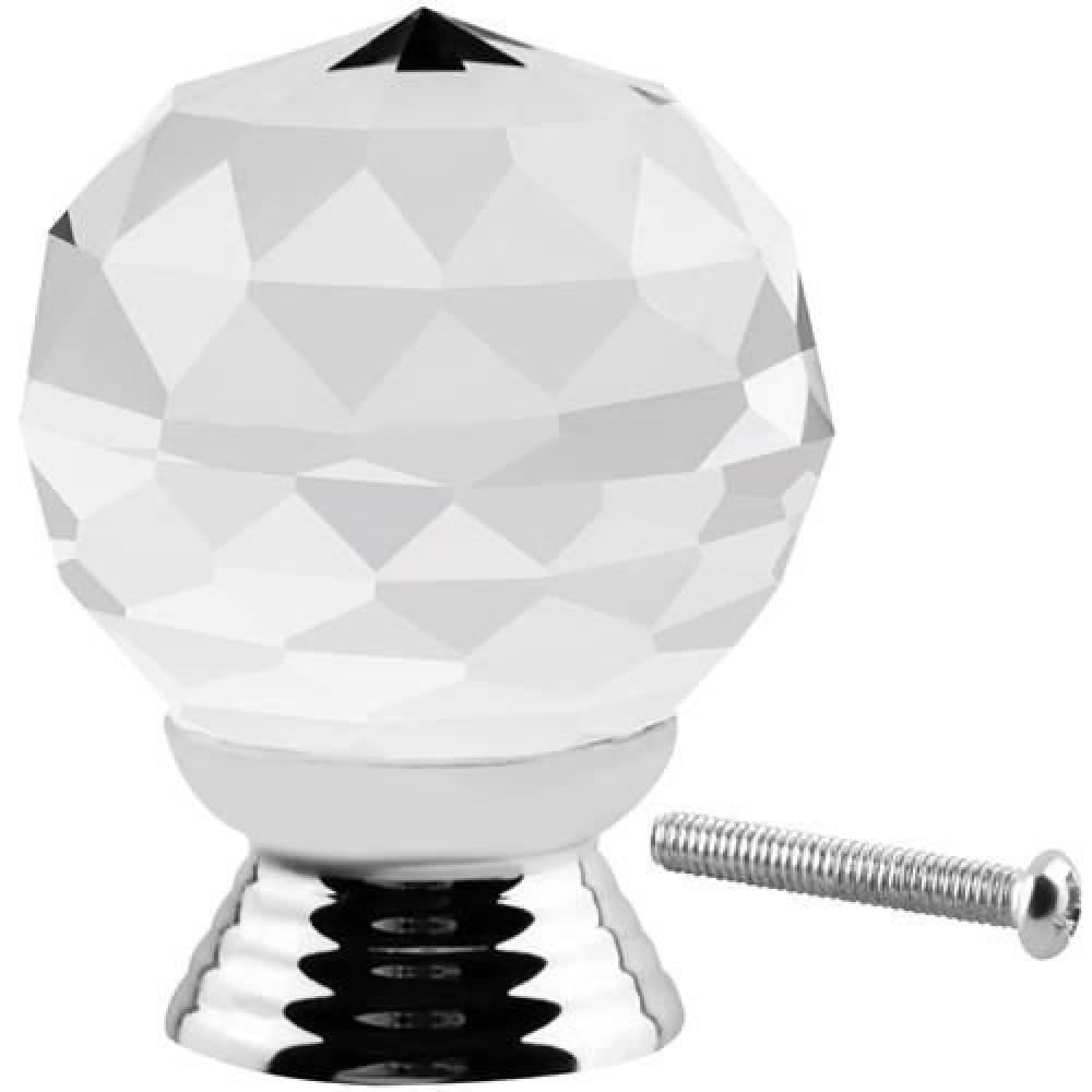 Crystal round handle - Swarovski knob for door, furniture, stylish decor for bedroom, living room