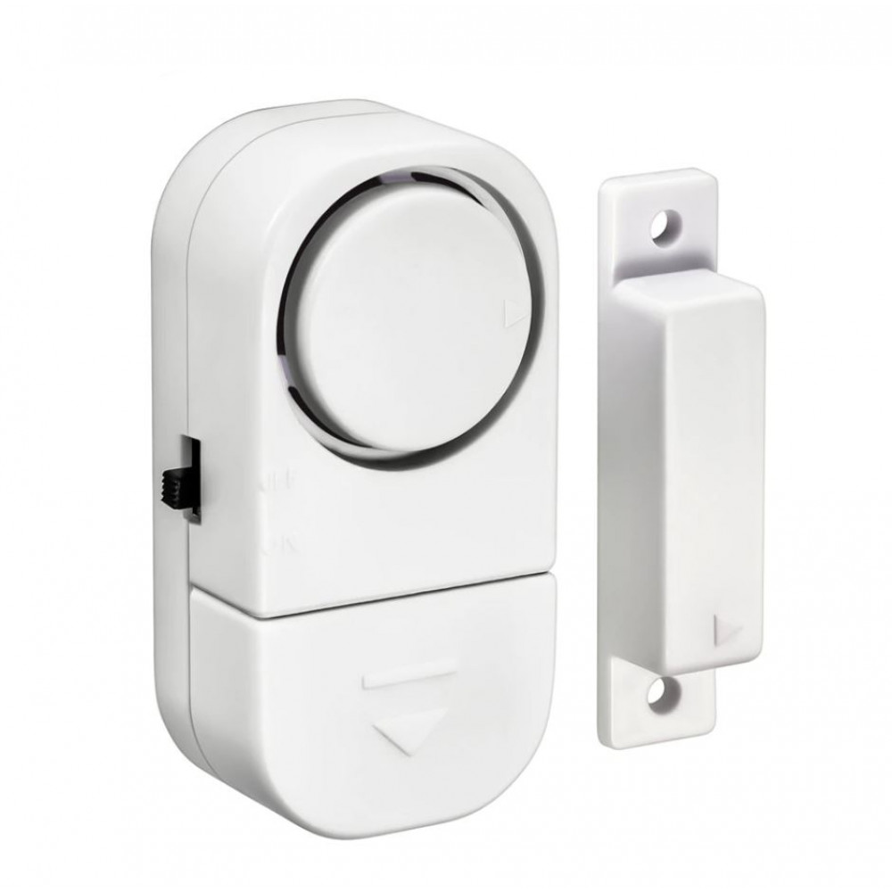Wireless alarm for opening a window or door, for a summer residence, home, office, garage