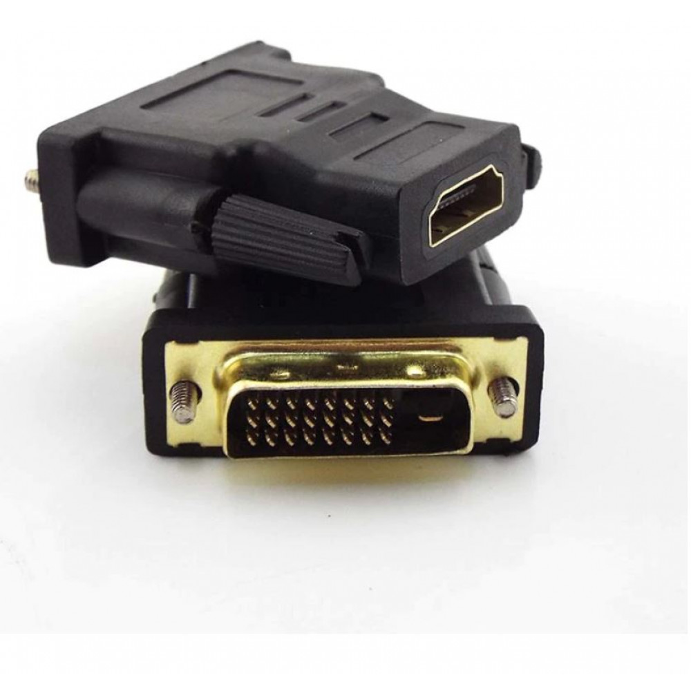 Adapter, adapter for connecting to multimedia devices HDMI male to DVI-D 24 + 1 female, for connecting old monitors