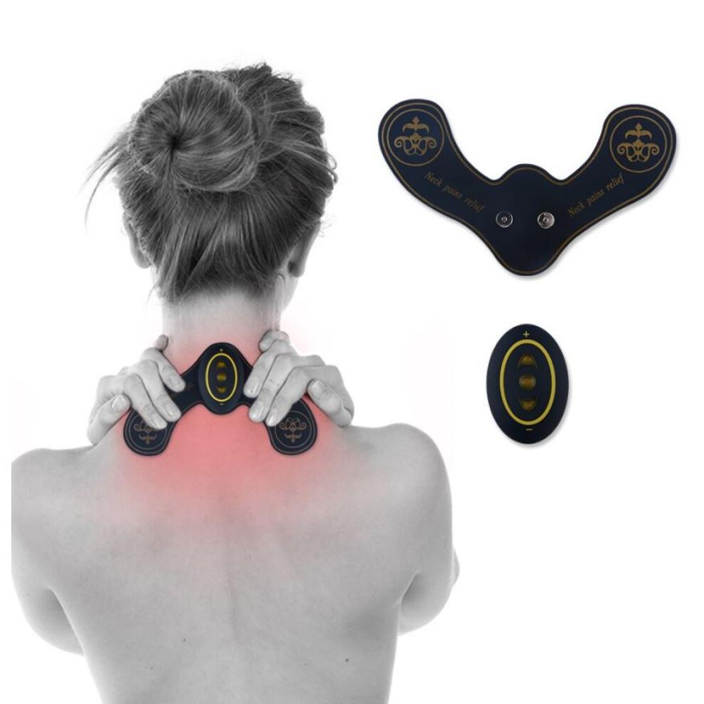Myostimulator, EMS pulse butterfly neck massager, against muscle cramps Butterfly Neck Massager
