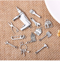 Silver-plated professions pendants, gift for creative people, friends