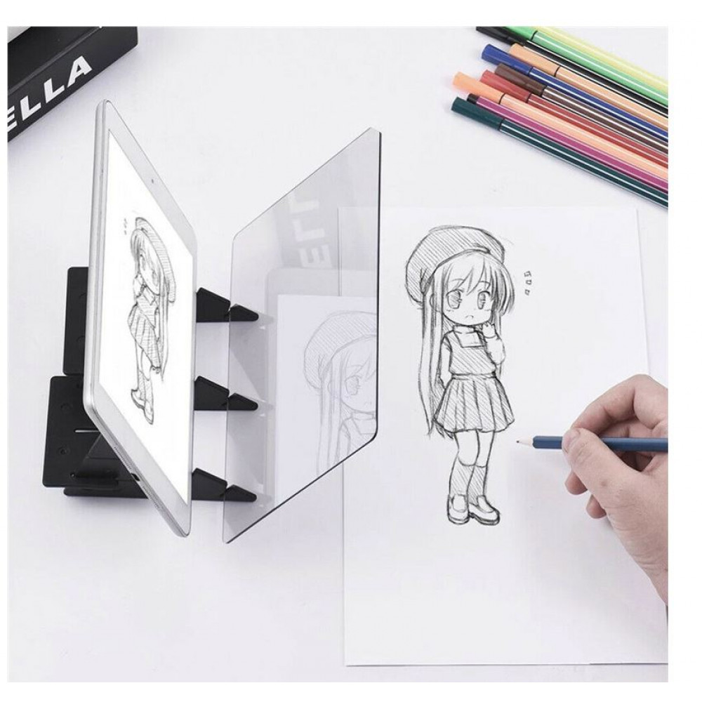 Optical projector for drawing, board for drawing, projector for sketches, children's toys for drawing