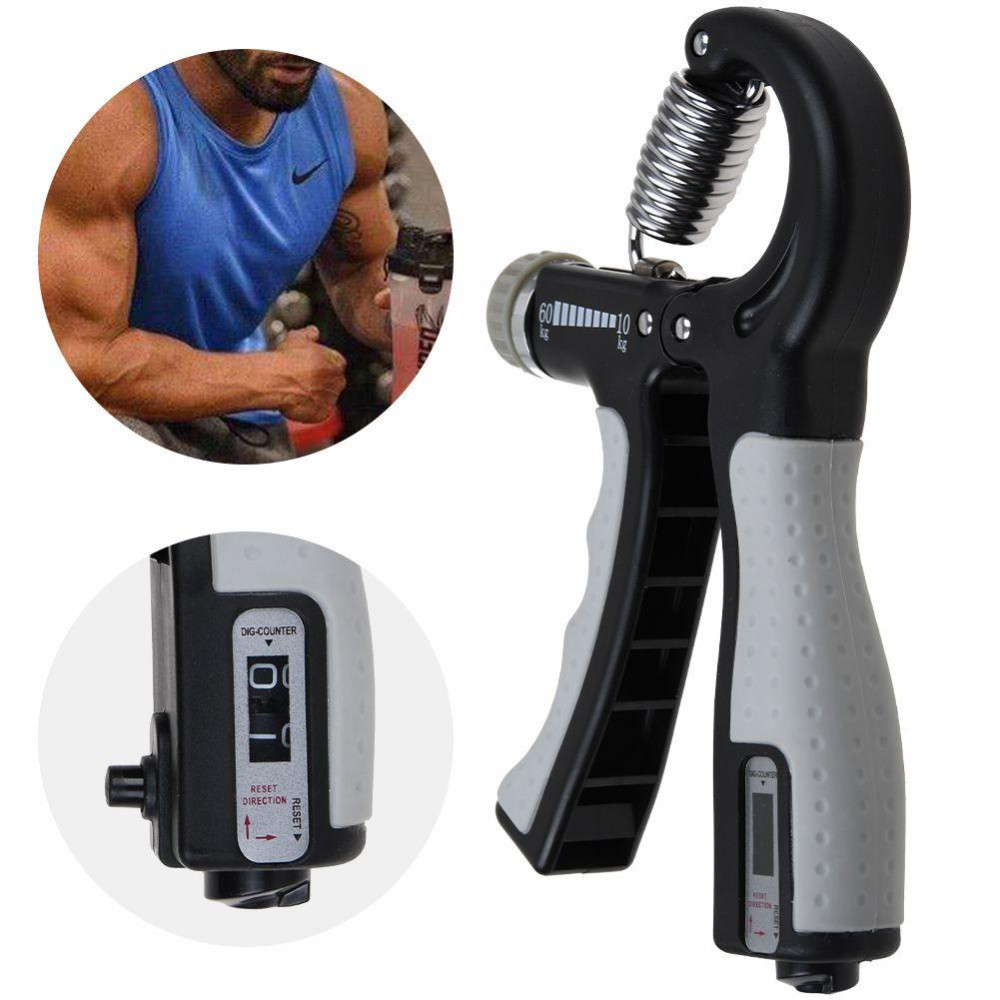 Hand training expander with integrated click counter