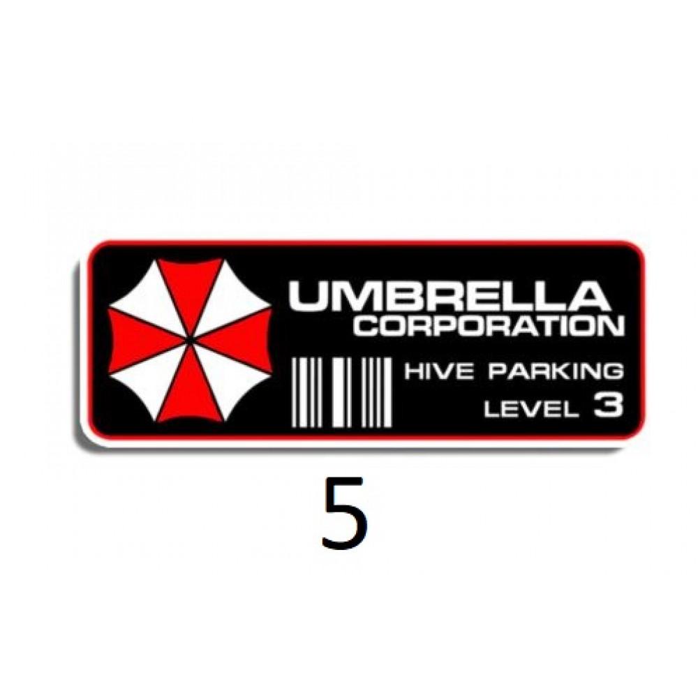 Sticker for car Umbrella Corporation, T-virus, from the movie Resident Evil