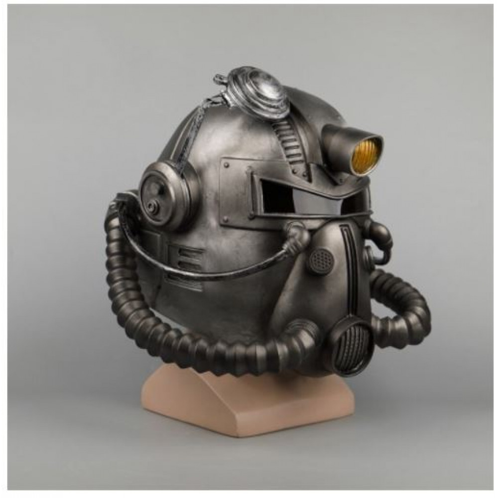 T-51B Power Armor Rubber Helmet of the Brotherhood of Steel and the Enclave from the Fallout Universe