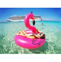 Inflantable Flamingo Pool Beach Ring