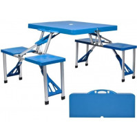Folding Portable Camping Table and Chairs for 4 Persons