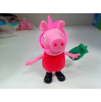 "Figures from the cartoon ""Peppa Pig"" - Peppa Pig, Mommy Pig, Daddy Pig, brother George"