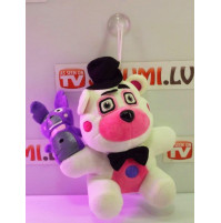 Soft plush toy from the computer game Five Nights at Freddys - Lemonade Clown, White Baby Doll, New Pink Bunny, Funtime Animatronic Bear, Balora