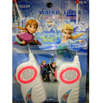 Toy set of real walkie-talkies with the characters from the cartoon Frozen