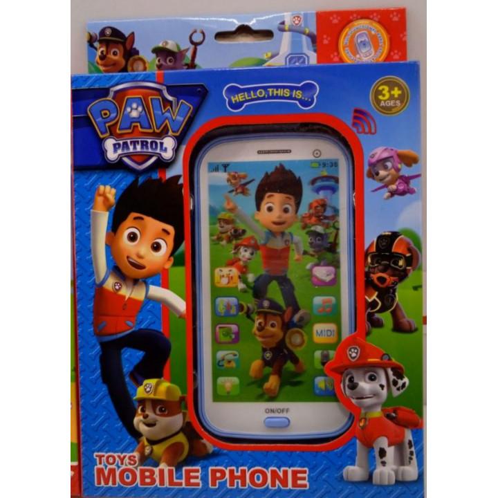 Kids musical phone -  Paw Patrol english or russian language, voice responding