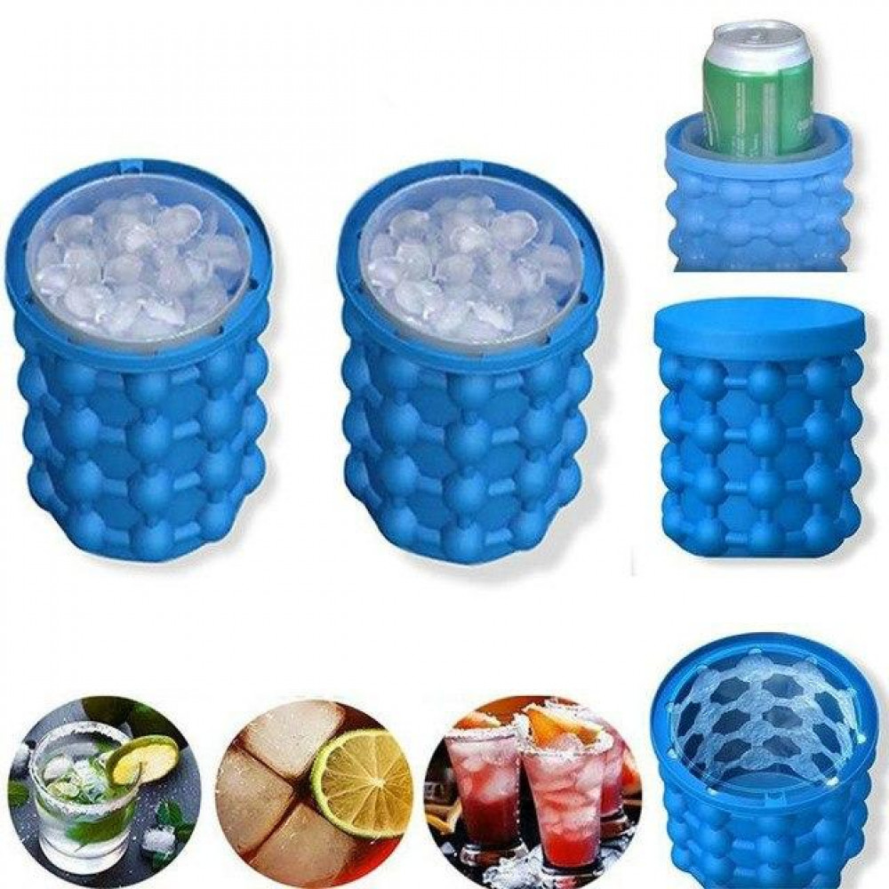Shape Ice Freezer Bucket and Drink Cooling Ice Cube Maker Genie