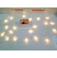 LED zvaigznīšu virtene ar knaģiem