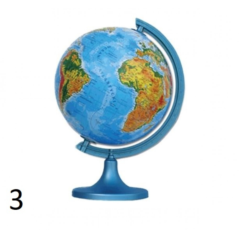 Political or physical globe 250 mm on a strong stand with 3D LED illumination, a great gift for a teacher