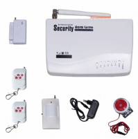 10 Defense Zones Voice SMS Home Alarm System Wireless GSM Alarm System