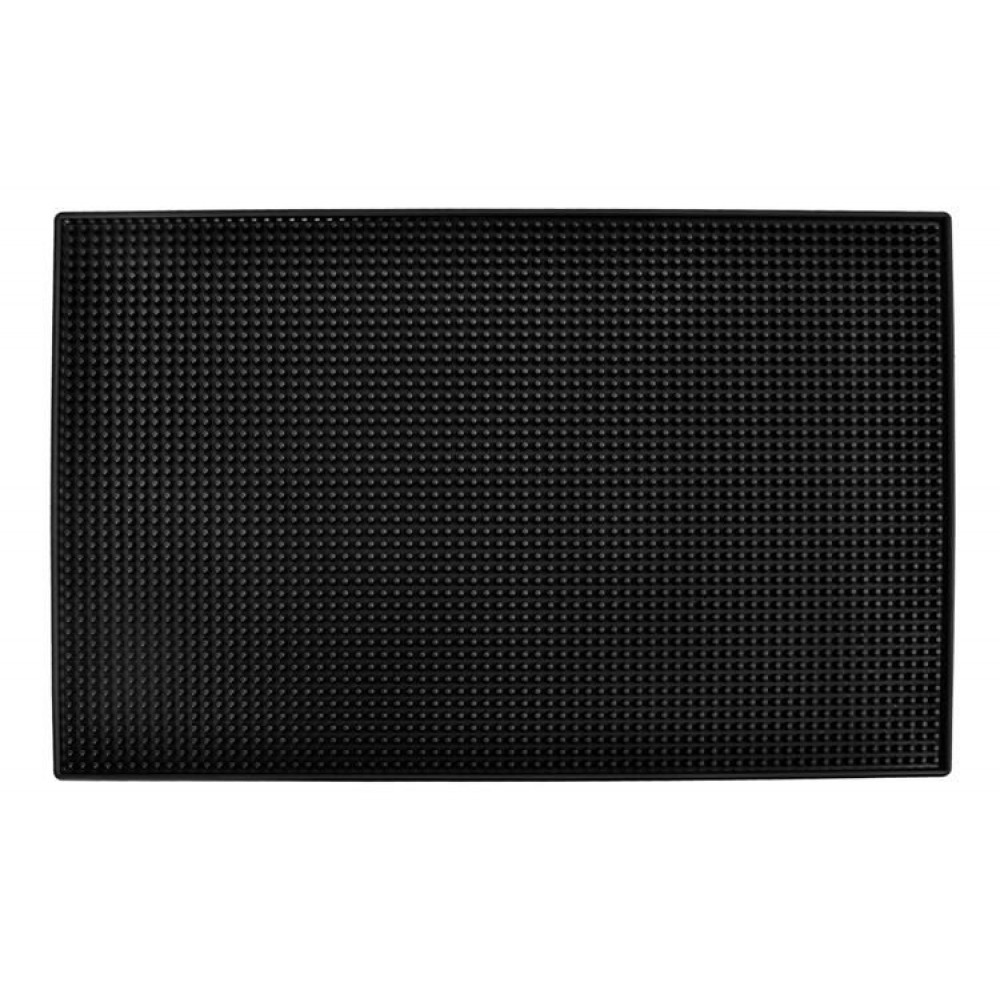 Universal non-slip silicone bar mat for serving drinks, drying dishes