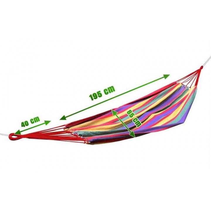 Hiking Hanging Compact Hammock Made of Natural Material, with Travel Bag, Leisure, Garden, Relaxation, Camping
