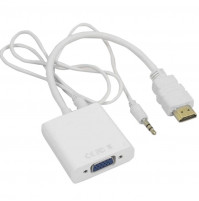 ACTIVE ADAPTER HDMI FEMALE TO VGA MALE CABLE ADAPTER WITH FUNCTION FOR POWER CONNECTION DC5V