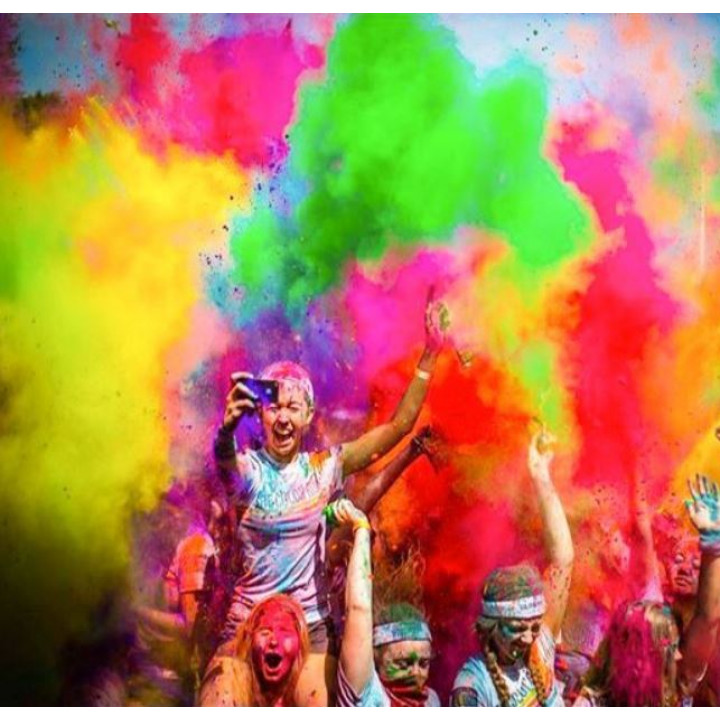 Holi Safe Colored Paint Powders - for Festivals, Parties, Birthdays, 6 colors x 100g or 10 x 100g