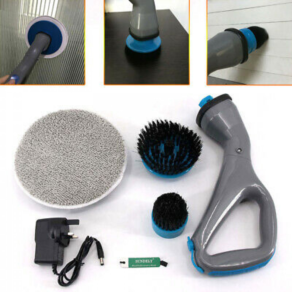 Hurricane Muscle Scrubber Cordless Portable Rechargeable Cleaning Brush