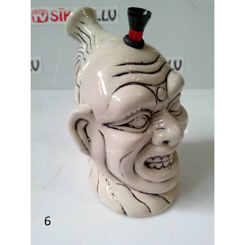 Collection of Indian gift bongs - handmade ceramic hookahs