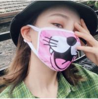 Stylish k-pop pink pussy patterned face mask