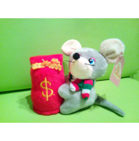 A mouse - a rat - a symbol of 2020 - a piggy bank for children who sings a song