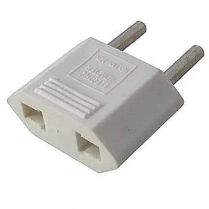 Adapter for Chinese or US Type A plugs to EU plugs