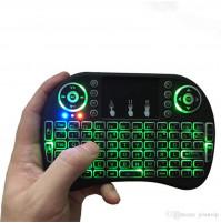 Mini Bezvadu Bluetooth ergonomiskā Klaviatūra Backlit ar skārienjūtīgu peli