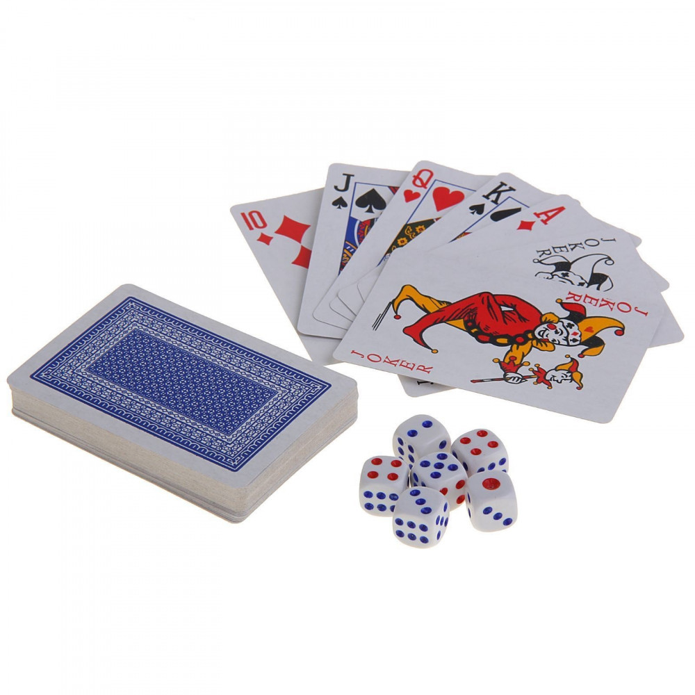 Poker cards and dice kit