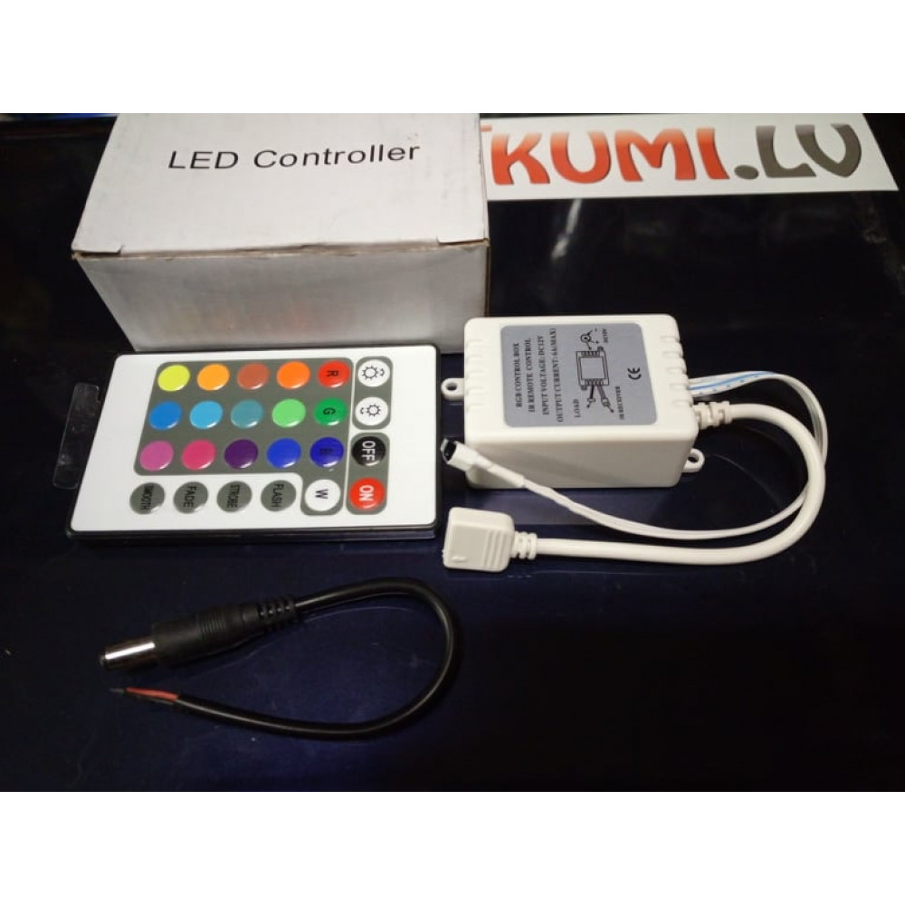 Controller with remote control for LED RGB tapes