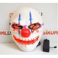 Glowing neon LED El Wire Bloodthirsty Clown mask