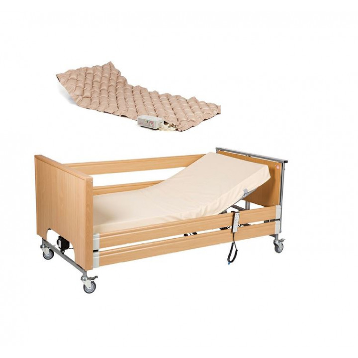 RENT. Burmeier automatic medical functional adjustable bed with trapeze, Anti-decubitus mattress, for bedside patient care