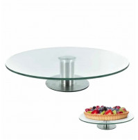30 cm Glass Rotating Swivel Stand for Decorating Cakes, Pastry, Food Photo Shoots