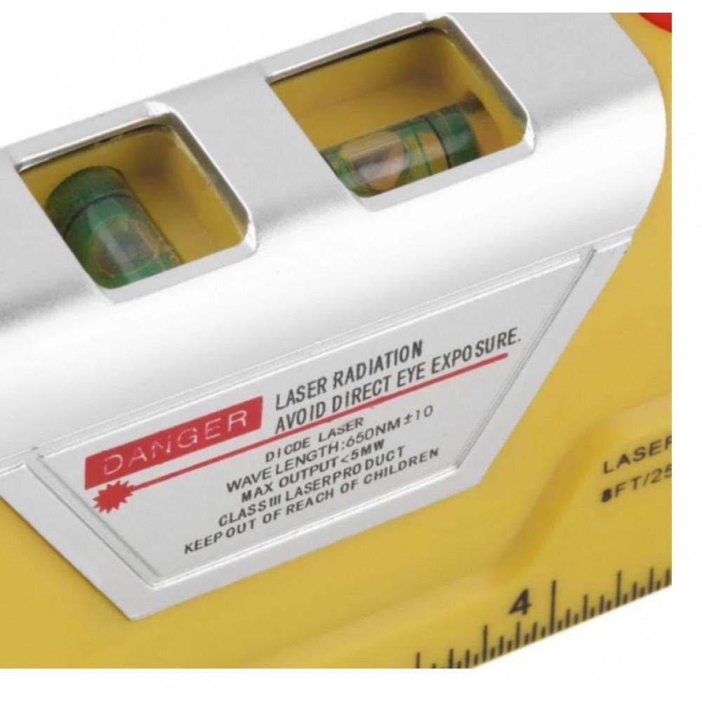 Construction multitool - laser and liquid level, tape measure, ruler, for easy marking Laser Level Pro 3