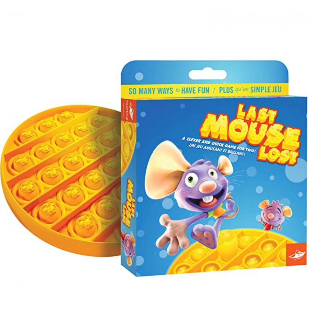 Board game for the development of agility, fine motor skills, logic, concentration, analog of tic-tac-toe Last Mouse Lost