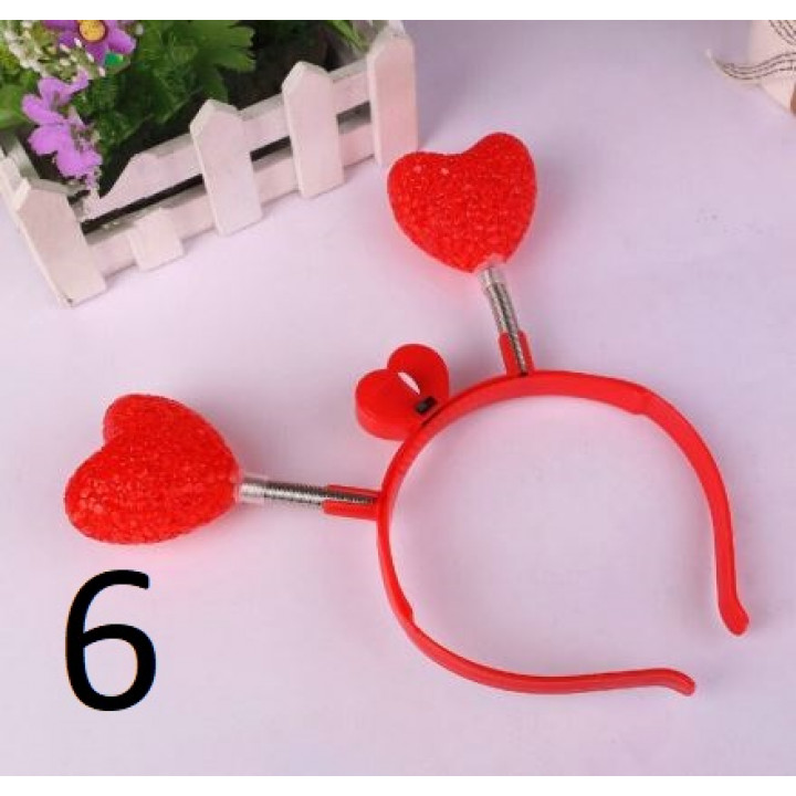 Luminous LED headbands: crown, hearts, horns, for parties, holidays, bachelorette parties