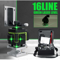 Multifunctional 3D 360 °, 16 lines, construction precise laser level with control panel