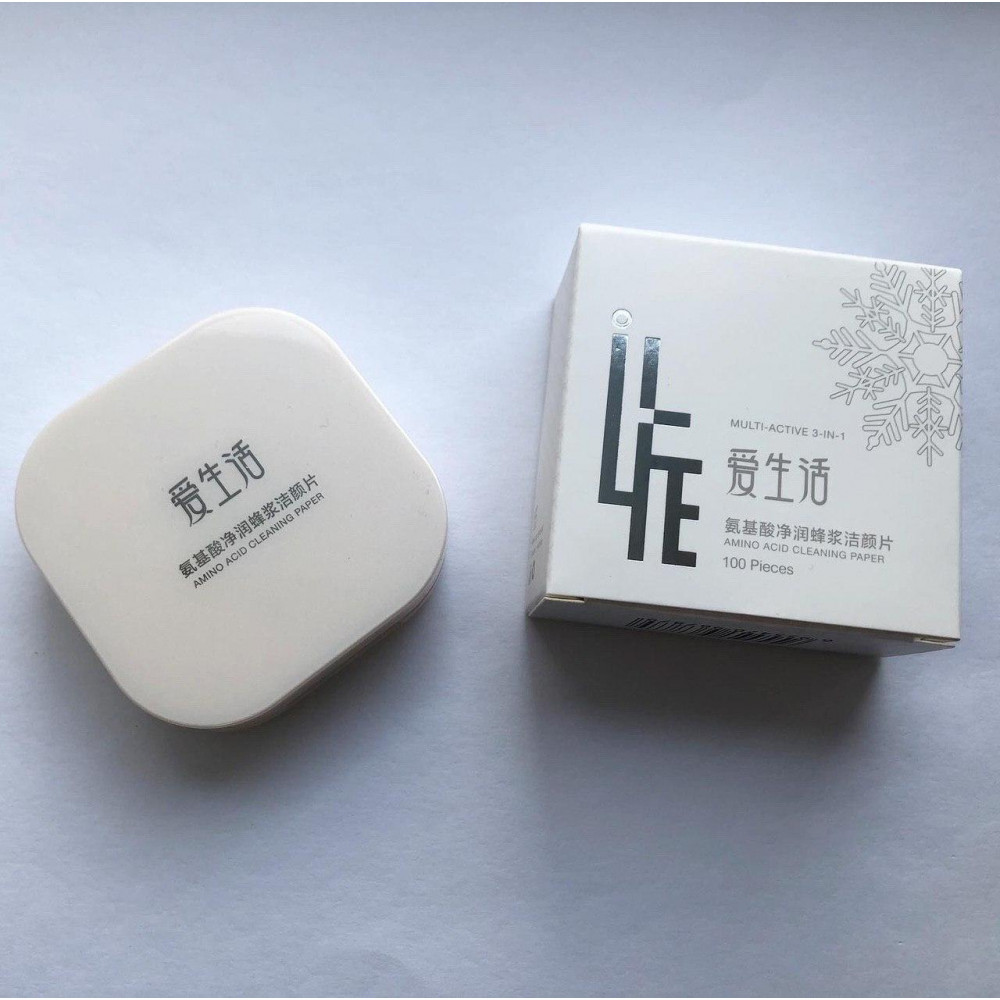 Green Leaf Multi Active 3 in 1 Sheet Amino Acid Soap for Makeup Remover, Facial Peeling