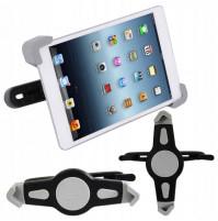 Tablet holder for car, mounted on headrest