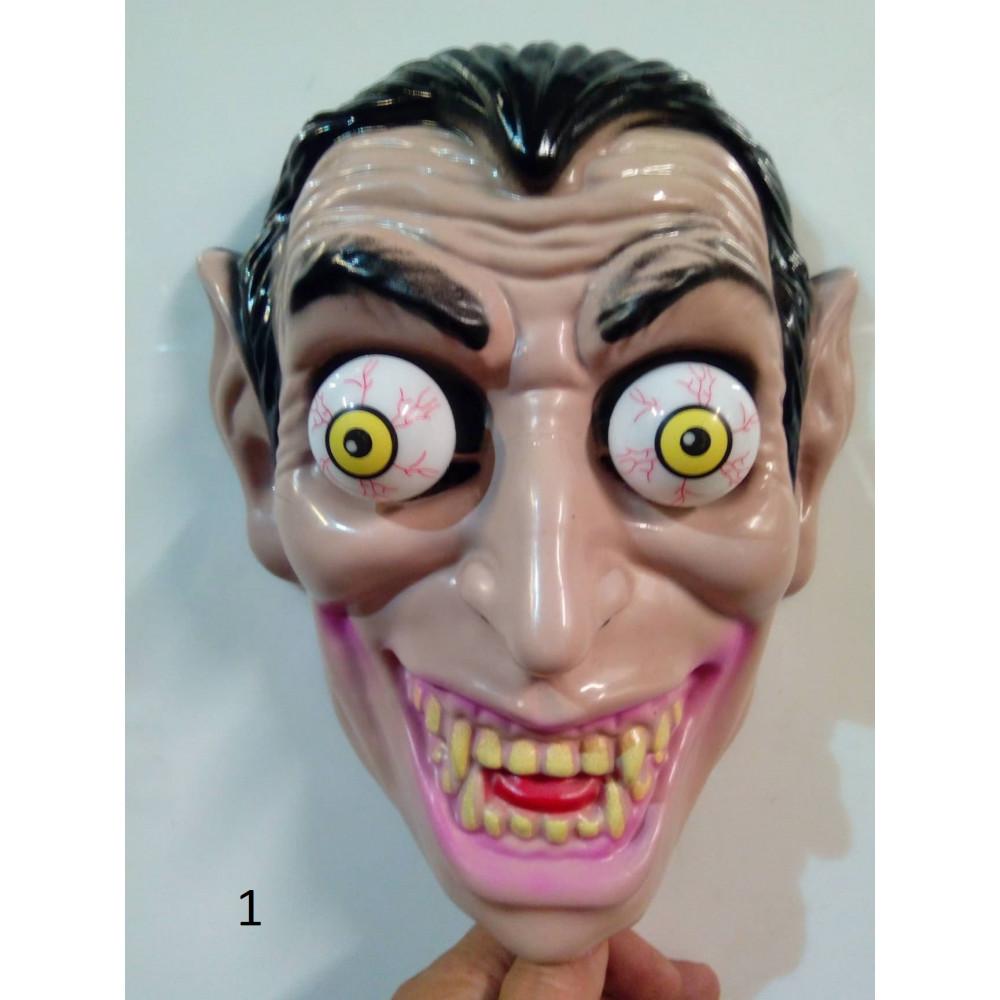 Briesmīga maska – skelets, drakula, klauns no Tas, karnevāla maska Helovīnam