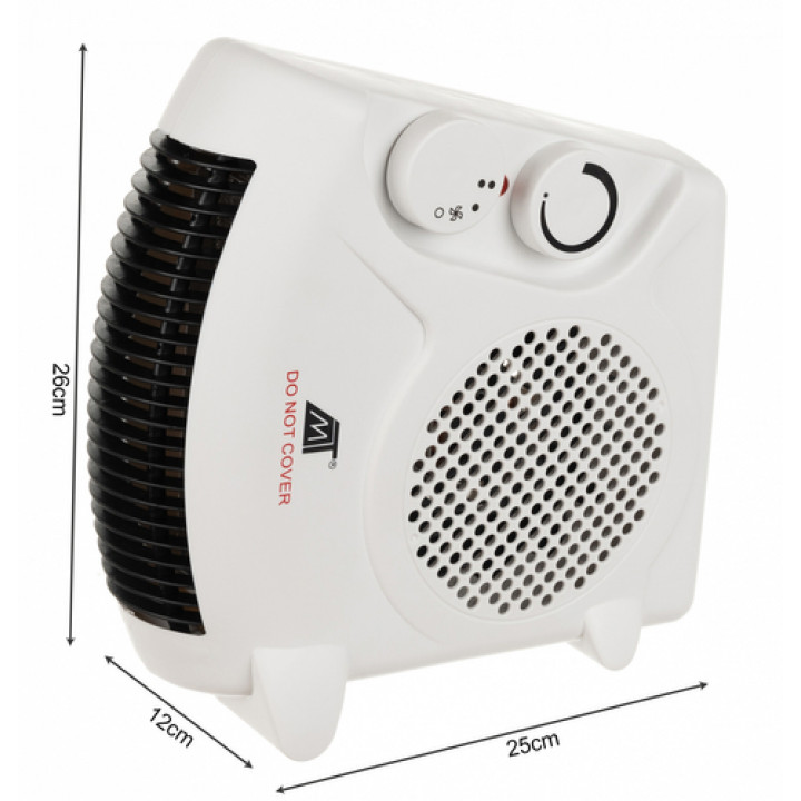 Powerful 2 kw, economical electric heater for premises, warehouses, office, home