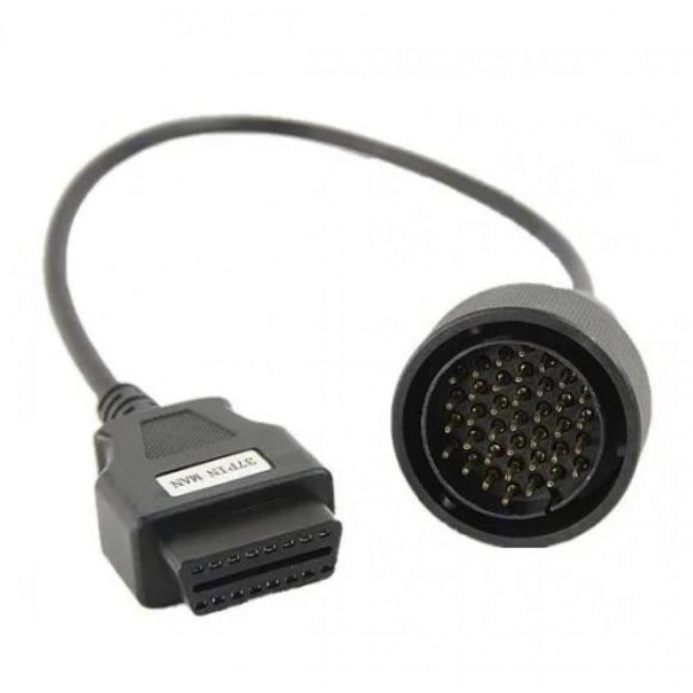 OBD II - 37 pin adapter cable for MAN trucks diagnostics with Autocom, Delphi, VCI Launch diagnostic systems