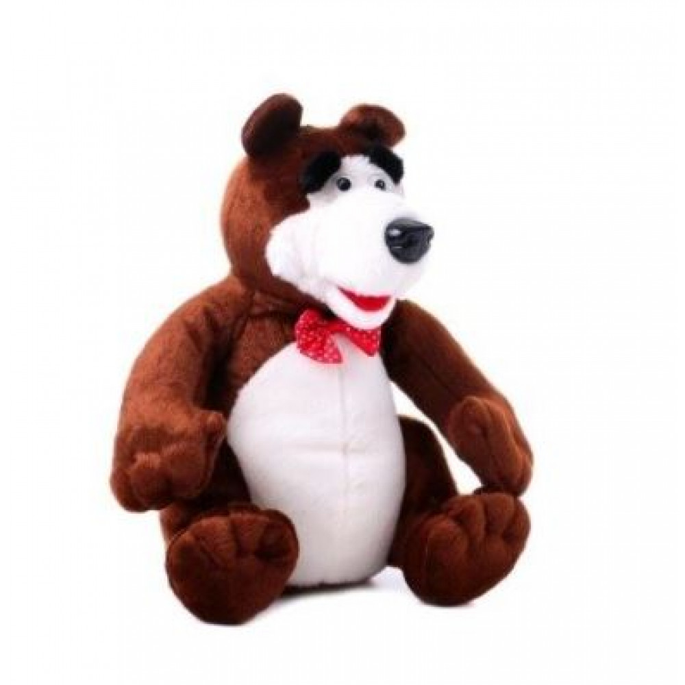 Interactive talking soft toy bear repeat from the cartoon Masha and the Bear