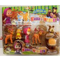 Set of collectible figures Masha and the Bear