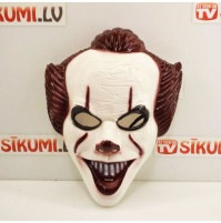 Carnival mask of the scary clown IT - for Halloween, parties, masquerades